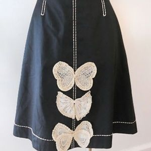 Anthro Odille butterfly bow skirt